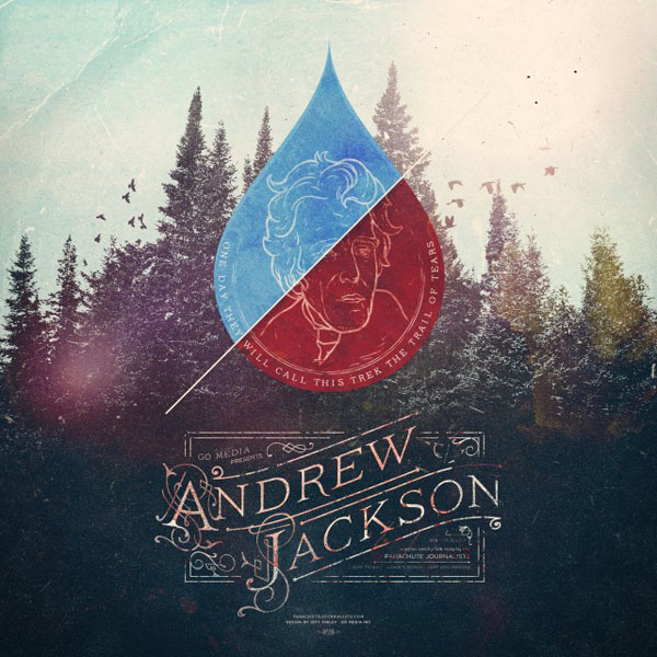 Parachute Journalists – Andrew Jackson Album Artwork by Jeff Finley