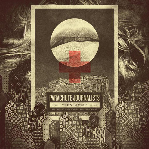 Parachute Journalists – Ten Lives Single Cover Artwork by Jeff Finley