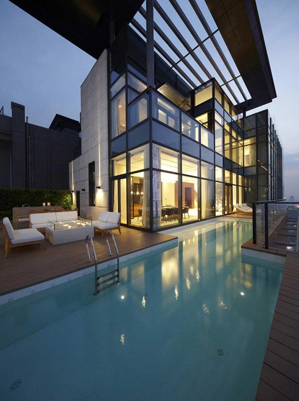Penthouse Architecture House of the Tree by Kokaistudios