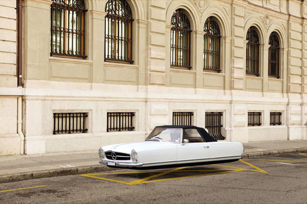 Air Drive - photographic series of floating classic cars by Renaud Marion