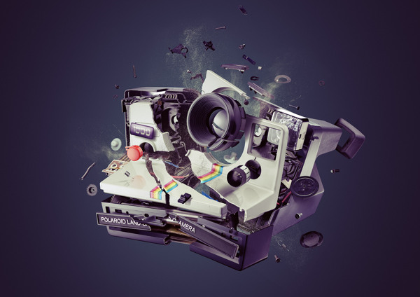 "Polaroid ""Onestep"" Land Camera 1000 - Digital Artwork by Staudinger Franke"