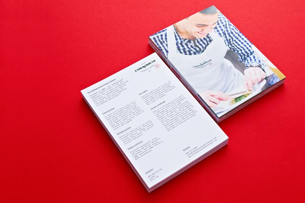 Print Design for Underground Cookery School by Two Times Elliott