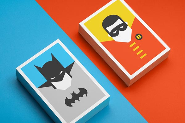 Re-Vision Batman and Robin Postcard Illustrations by Forma & Co