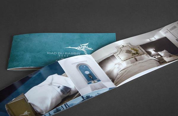 Riad du Rabbin - Brochure Design by Büro für Linienführung