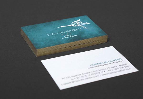 Riad du Rabbin - Business Card Design by Büro für Linienführung