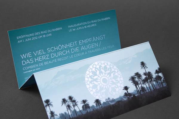 Riad du Rabbin - Flyer Design by Büro für Linienführung