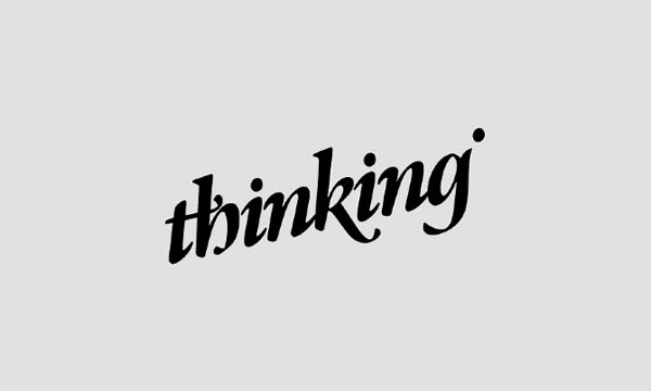 Thinking Logo Design by Hellopanos