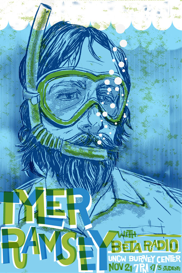 Tyler Ramsey and Beta Radio - Poster Illustration by Reedicus