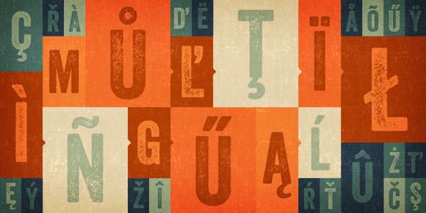 Veneer grunge hand-crafted letterpress font from Yellow Design Studio