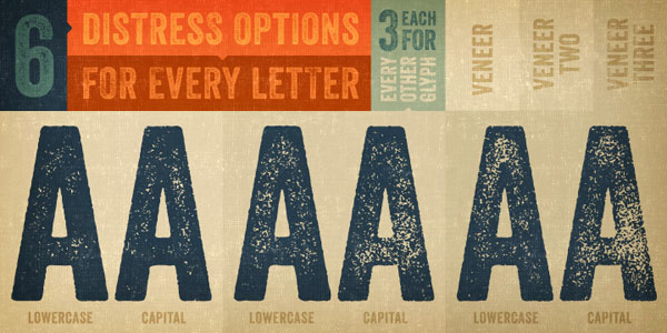 6 distress options for every letter.