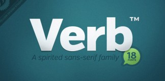 Verb by Yellow Design Studio - 18 fonts sans serif type family