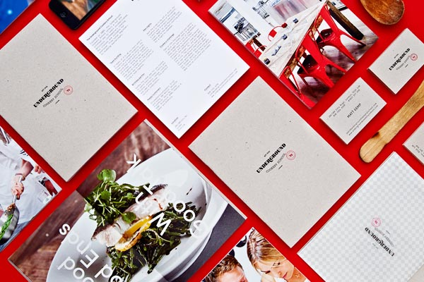 Visual Identity of Underground Cookery School - Graphic Design by Two Times Elliott