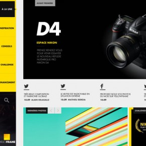 Yellow Frame - Social Photography Website Design by Thomas Ciszewski