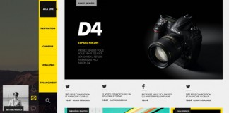 Yellow Frame - Social Photography Network - Web Design by Thomas Ciszewski
