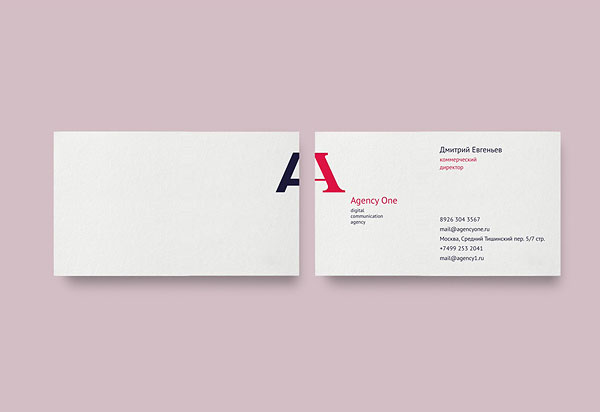 Agency One - business cards