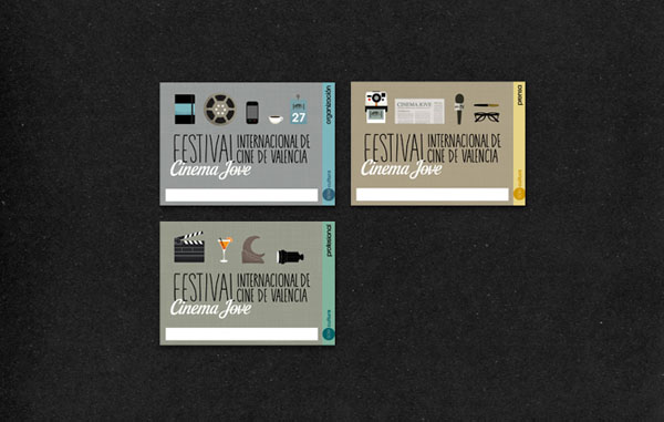 27th Cinema Jove Film Festival - Accreditation Cards by Casmic Lab