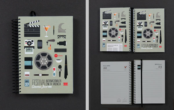 27th Cinema Jove Film Festival - Notebooks Design by Casmic Lab