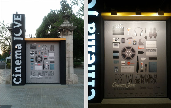 27th Cinema Jove Film Festival - Street Advertising by Casmic Lab