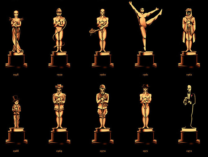85 Years of Oscars - Poster Design by Olly Moss - Detail