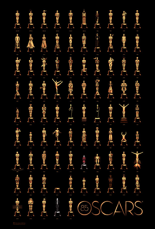 85 Years of Oscars - Poster Design by Olly Moss