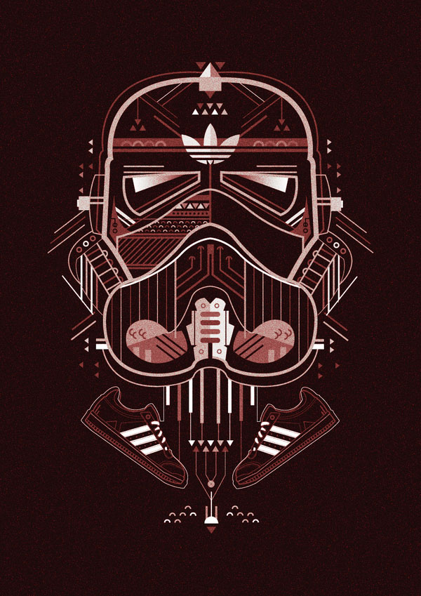 Adidas Illustration by Petros Afshar