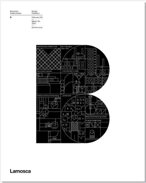 BCN:MCR - Letter B by Lamosca