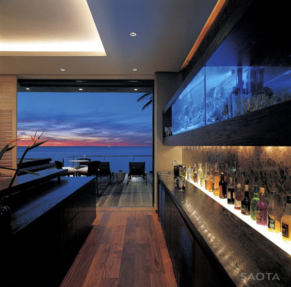 Bar inside the St Leon 10 in Bantry Bay, Cape Town by SAOTA and Antoni Associates