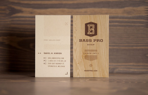 Bass Pro Shop Business Cards by Fred Carriedo