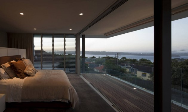 Bedroom of the Vaucluse House in Sydney, Australia by MPR Design Group