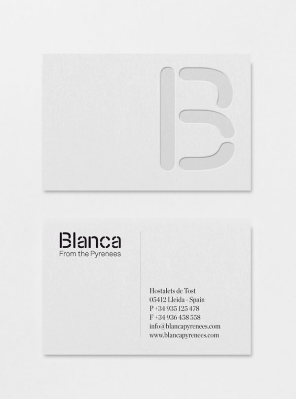 Blanca Business Card Design by Lo Siento Studio