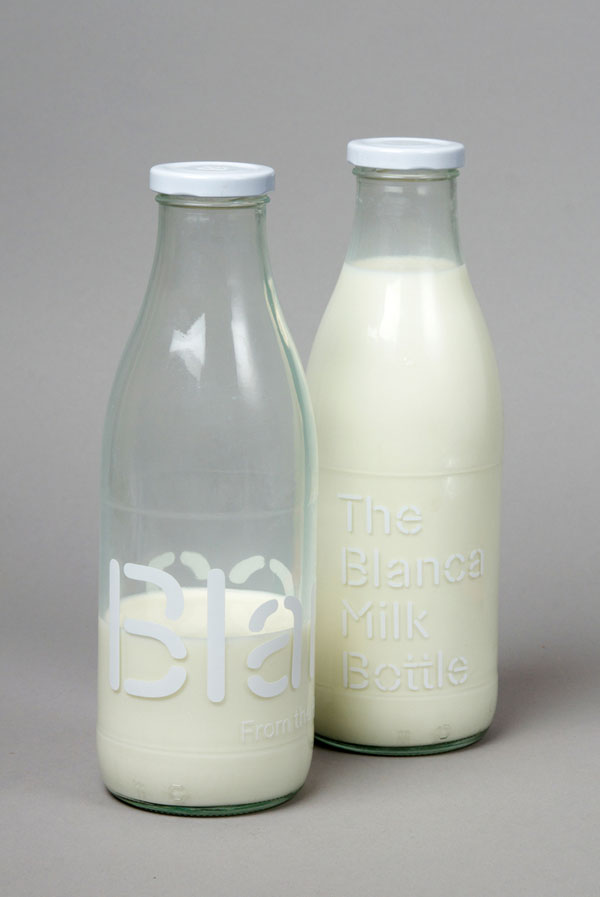 Blanca Milk Bottles - Packaging Design by Lo Siento Studio