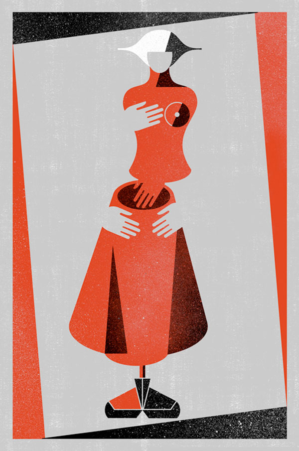Book Cover Illustration by Balbusso Sisters for The Handmaid's Tale by Margaret Atwood