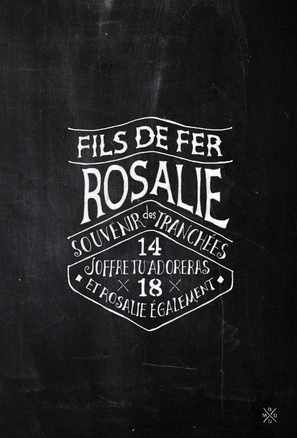 Brand Typography for FILS DE FER - Souvenir 14 18