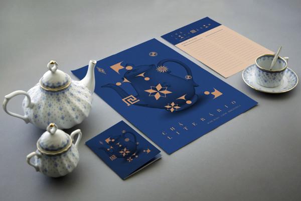 Chá Literário - Visual Identity Design by Tiago Campea
