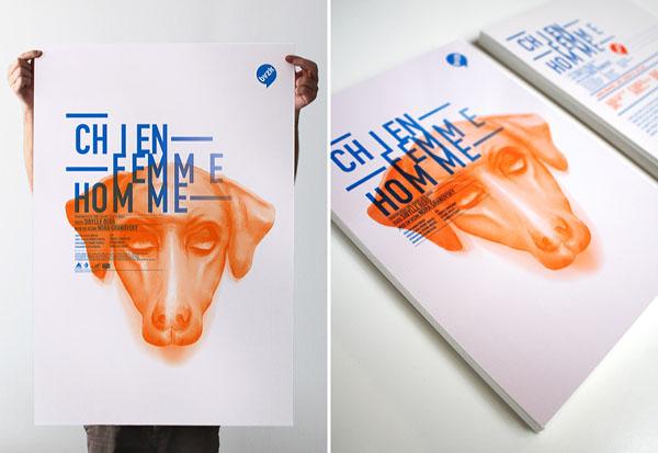 Chien Femme Homme - Poster Design by Les produits de l'épicerie