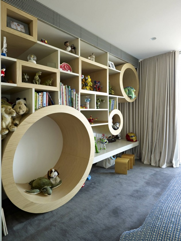 Children's Room of the Vaucluse House in Sydney, Australia by MPR Design Group