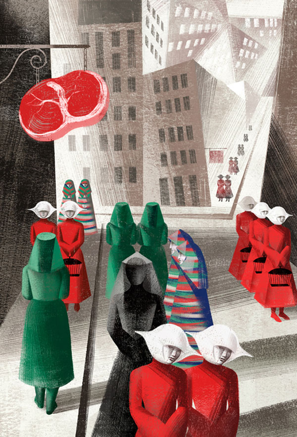 City - Illustration by Balbusso Sisters for The Handmaid's Tale by Margaret Atwood