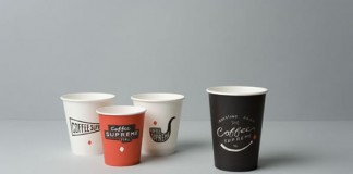 Coffee Supreme takeout cups by Hardhat Design