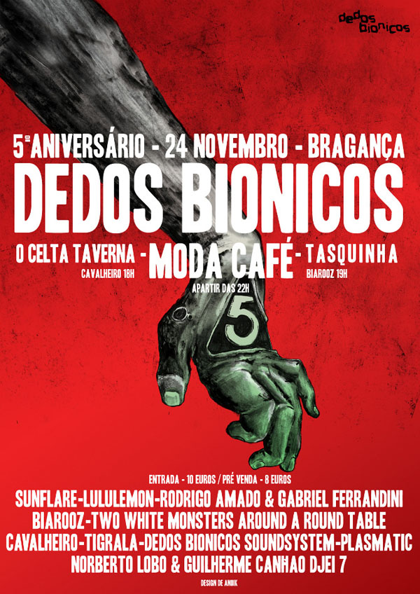 Dedos Bionicos Poster Illustration by Anoik