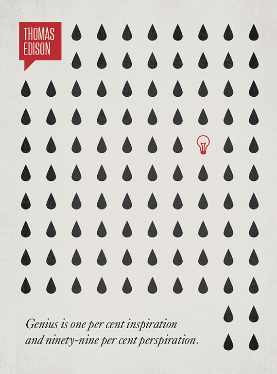 DesignDifferent Illustration - Quotation by Thomas Edison