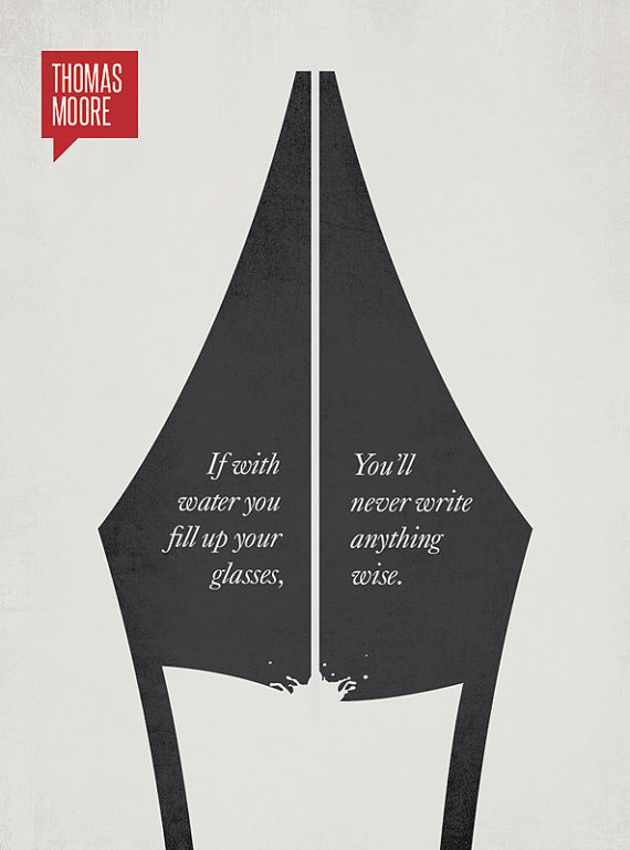 DesignDifferent Illustration - Quotation by Thomas Moore