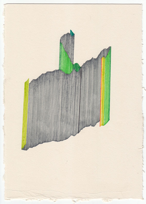 Diary Fragments - drawing by Mario Kolaric