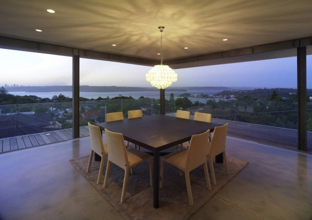 Dining Room of the Vaucluse House in Sydney, Australia by MPR Design Group