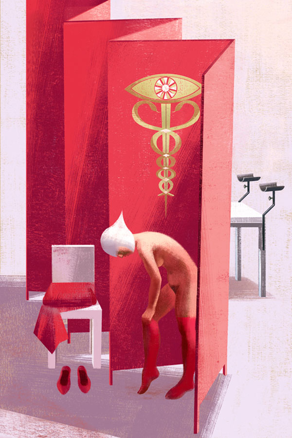 Examination - Book Illustration by Balbusso Sisters for The Handmaid's Tale by Margaret Atwood