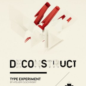 "Experimental Typeface ""Deconstruct"" by Atelier Olschinsky"