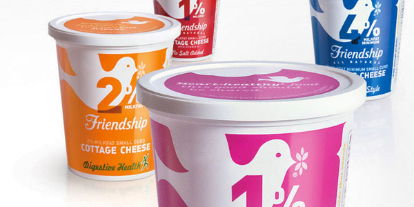 Friendship dairies packaging design by partners napier