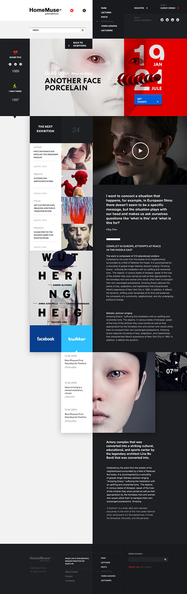 Web Design by Sergei Gurov for HomeMuse Gallery