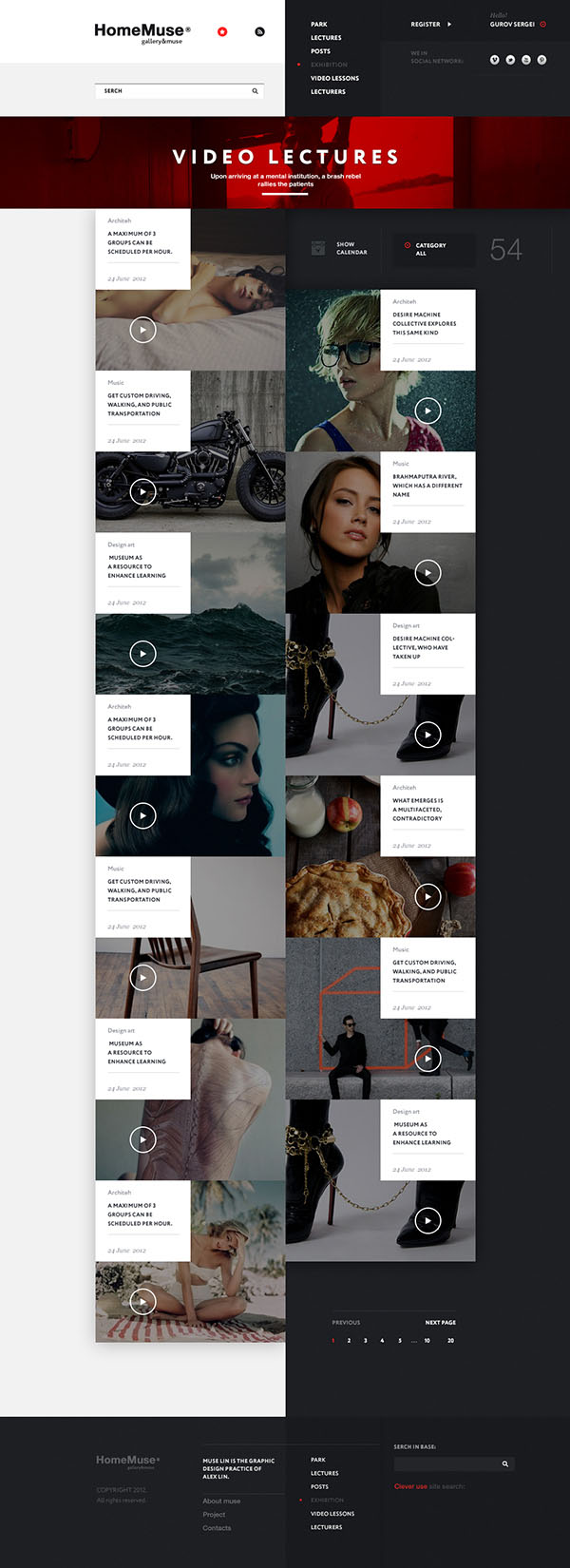 HomeMuse Gallery - Web Design by Sergei Gurov