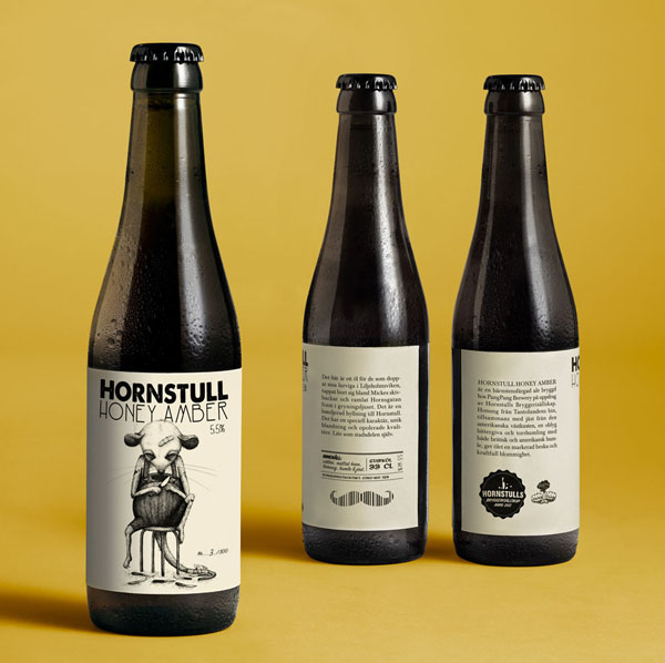 Hornstull Honey Amber - Package Design and Illustration by Abby Norm