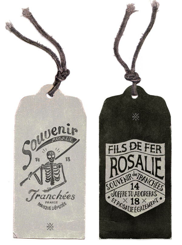 Illustrated Tags for FILS DE FER - Souvenir 14 18